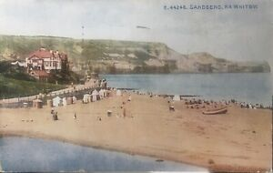 Sandsend. The Beach, a nice coloured card from Celesque series. Franked 1949.