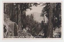 RPPC,Strawberry Peak,CA.View from Mt.Wilson,San Gabriel Mts.E.B.Gray Photo,c.'09