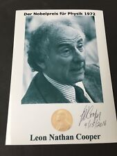 Leon Nathan Cooper Nobel Prize Physics 1972 signed photograph 4 x 6