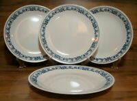 "SET OF 4 - CORNING CORELLE - OLD TOWN BLUE ONION - 10 1/4"" DINNER PLATES"