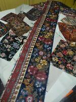grand lot tissus neufs  pour patchork  fleurs +chutes de couture ,beau tissus of