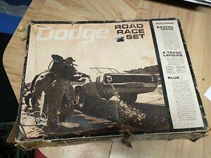 Vintage ELDON DODGE CHARGER 1/32nd Scale SLOT CAR RACE SET CORONET MOPAR CAVE 69