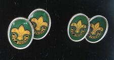 Vintage  Boy Scout Badge Cufflinks c. 1950s   -   Fleur De Lis