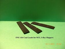 COAL LOADS FOR MTL 3-BAY (MIXED LOAD) HOPPERS - 3/SET - N SCALE: FNC-116