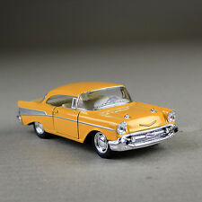 1957 Chevrolet Bel Air 1:40 Scale Diecast Metal Model Car Yellow Classic Chevy