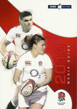 ENGLAND SIX NATIONS 2013 RUGBY MEDIA GUIDE BOOKLET