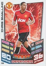N°130 CHRIS SMALLING MANCHESTER UNITED TRADING CARD MATCH ATTAX TOPPS 2013