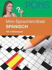 PONS Mini-Sprachenrätsel Spanisch, 150 mal Rätselspaß NEU