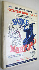 1973 Khedive-Shrine Oyster Bowl Game Norfolk VA Duke Maryland Program X-RARE!!