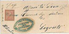 ITALIA REGNO: ANNULLO COLLETTORIA lineare CORZANO 1875