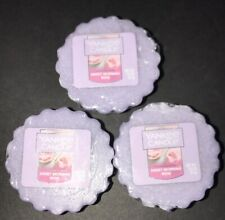 Yankee Candle SWEET MORNING ROSE Tart Melts / Lot Of 3 / Free Shipping