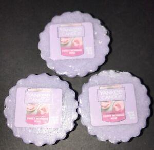 Yankee Candle SWEET MORNING ROSE Tart Melts / Lot Of 3 / Free Shipping