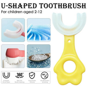 Kids U-shape Toothbrush Silicone Toothbrush For 360° Thorough Tooth Cleaning-