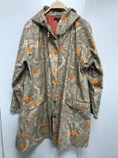 Gudrun Sjoden floral print raincoat, 100% organic cotton Size XL