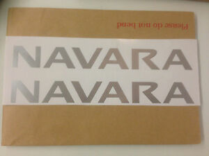 2 x Navara  roof bar decal stickers Replacement. fits Nissan Navara FREE POST