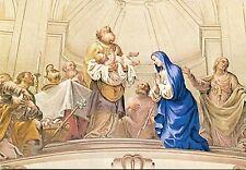 Arte antiguo tarjeta postal-Martin knoller-la representación de Jesús en el templo