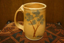 Pottery Handmade Wheel Thrown Coffee Mug/Cup with Trees SIGNED