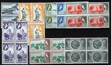BARBADOS 1964-65 DEFINITIVES SG312/319 BLOCKS OF 4 MNH