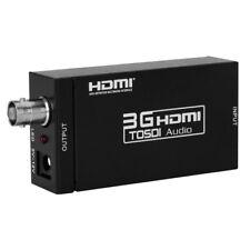 HDMI a SDI Adaptador Convertidor de vídeo Audio 1080P SD-SDI HD-SDI