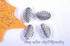 20s 9*6mm end bead Charms leaf style Tibet silver diy jewelry For bracelet 7015