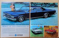 1963 two page magazine ad for Chrysler - '64 New Yorker, Newport, 300, Move Up