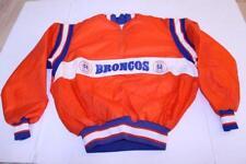 Men's Denver Broncos XL Vintage Pullover Windbreaker Jacket (Orange) DeLong