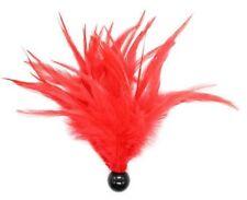 Accessoire coquin érotique jeu adultes: boule noire plumes rouges à chatouilles