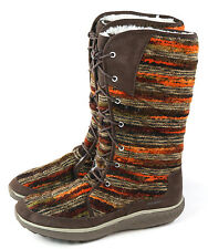 Merrell Womens Pechora Sky Lined Winter Boot Espresso Brown Multi Size 6.5