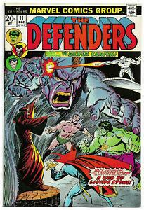 DEFENDERS#11 VF/NM 1973 MARVEL BRONZE AGE COMICS
