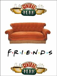 Friends central perk sofa coffee word Edible Cake Topper Wafer Icing Decoration