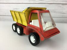 VINTAGE HUBLEY 1969 DUMP TRUCK LIFT ACTION BODY DIE CAST Red/yellow