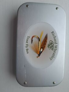 RICHARD WHEATLEY swing leaf eyed fly BOX . Fly fishing trout made in England