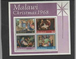 MALAWI #94a  1968  CHRISTMAS    MINT  VF NH  O.G  S/S
