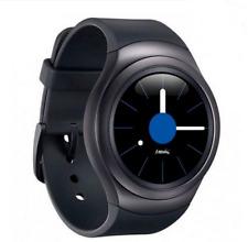 Samsung - Gear S2 Smartwatch 42mm Stainless Steel - Black Elastomer SM-R720