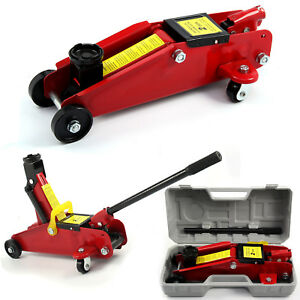 2 Ton Hydraulic Trolley Floor Jack Car Van Garage 2000kg High Lift 135-300mm UK