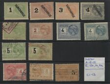 Indo China 10 Affiches & 3 Cheque Revenue Stamps (Duston C1-C3) MH/Used
