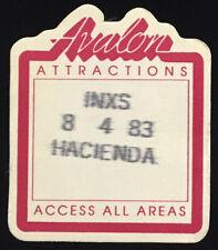 Inxs Rare Original Fresno Hacienda 1983 Backstage Concert Pass Avalon AAA 8/4/83