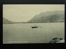 More details for ireland galway leenaun killary harbour showing steam boat old lawrence postcard