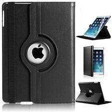 360 Degree Rotating Black Leather Stand Case Cover for iPad Air 9.7 inch 2017