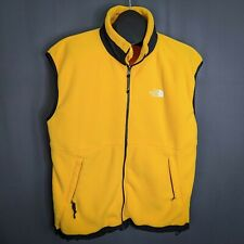 The North Face Mens Vest XL Yellow Fleece Full Zip Casual Med Weight