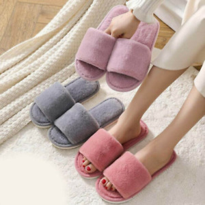 Women's Slippers Warm Furry Casual Non-Slip Flat Shoes Comfort Fashion Home Chic