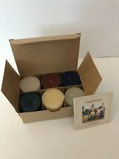 Longaberger Candle Sampler Set 6 Votive Scented Candles Rare Consultant Kit Nib