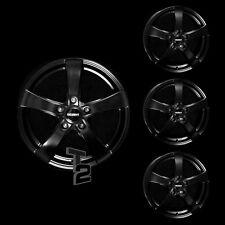 4x 14 Zoll Alufelgen für Daewoo Lanos, (4-Türer) / Dezent RE dark (B-3504516)