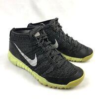 Nike Flyknit Chukka Trainer 624975-017 Black Volt Mens 9 Athletic Running Shoes