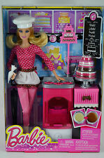 NIB-RARE-BARBIE I CAN BE...CHEF-2013-INT'L CANADA/CANADIAN-BAKERY-CAKE-OVEN-HAT!