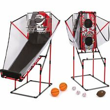 Basketball Arcade Game Kids Double Electronic Hoops 2 Player 3 in 1 Indoor Sport