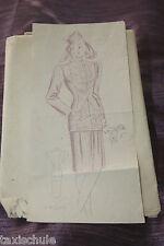 Selten Original um 1940 Kostüm Schnittmuster Gr. 42 Retro Nähen