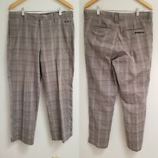 OAKLEY PANTS SWAGGER STRETCH GOLF PLAID  CASUAL MEN'S 34