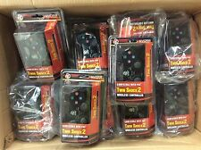 Lot of 20 PS2 Wireless Double Joysticks Vibration Controls Black Color Free Ship