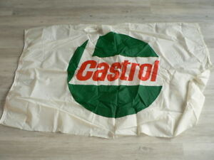 ORIGINAL CASTROL LOGO OIL FLAG 82 * 140 CM MOTORCYCLE MOTO NOT 100 % OK